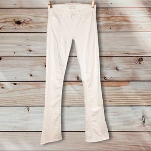 MOTHER| The Runaway White Skinny Flare Jeans 25